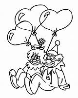 Clown Coloring Printable Pages Popular sketch template