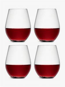 lsa, international, wine, collection, stemless, red, wine, glasses, , 530ml, , set, of, 4, at, john, lewis