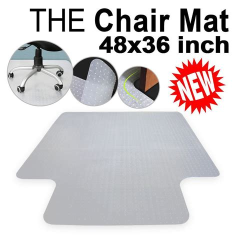 pvc office chair 47x clear desk mat tile floor wood protector ouy hard ecrater