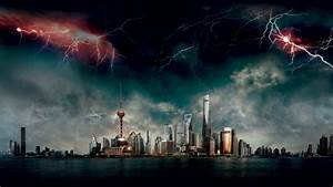 Wallpaper Geostorm, Shanghai, 2017, 4K, Movies / Most