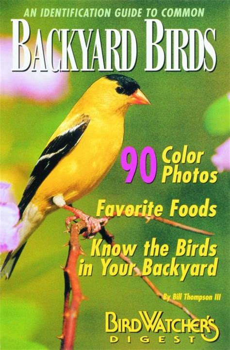 Backyard Identification by Bird Watcher S Digest An Identification Guide To Common