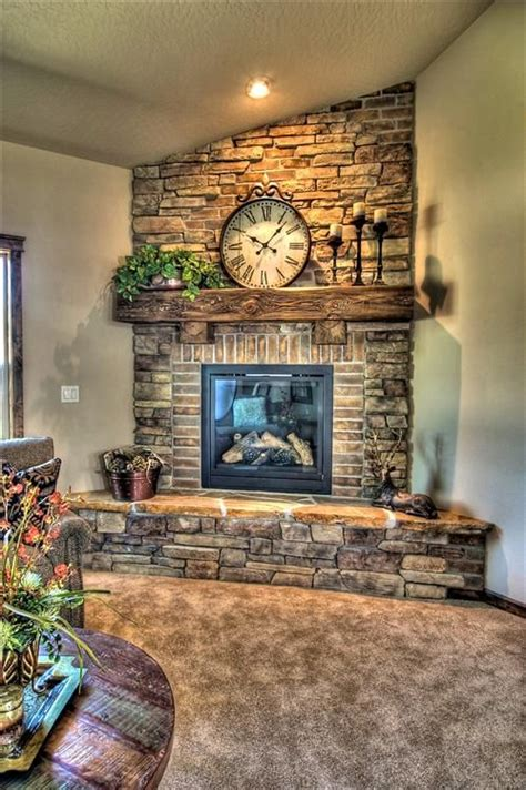 Corner Brick Fireplaces  Woodworking Projects & Plans