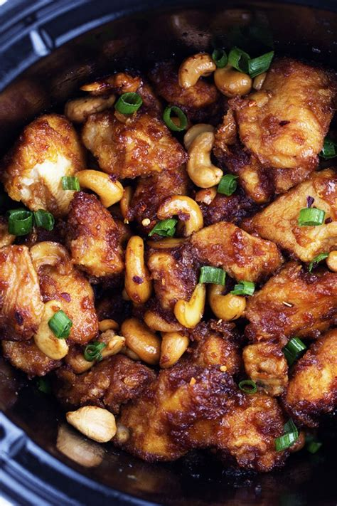 chicken cooker recipes slow cooker cashew chicken the recipe critic