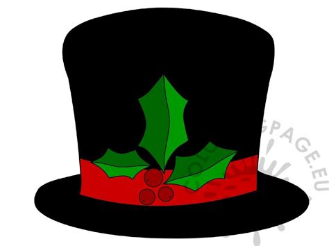 snowman hat  holly image coloring page