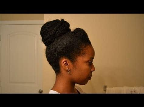 bun  afro kinky hair youtube