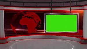 Red Virtual Studio Looping Animation With GreenScreen ...