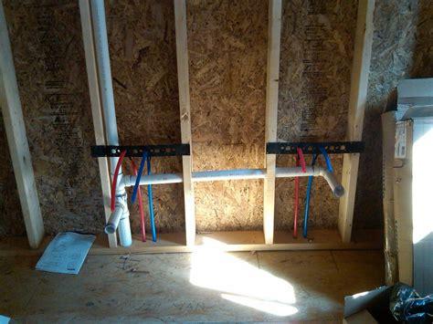 pex plumbing drains install photo plumbing