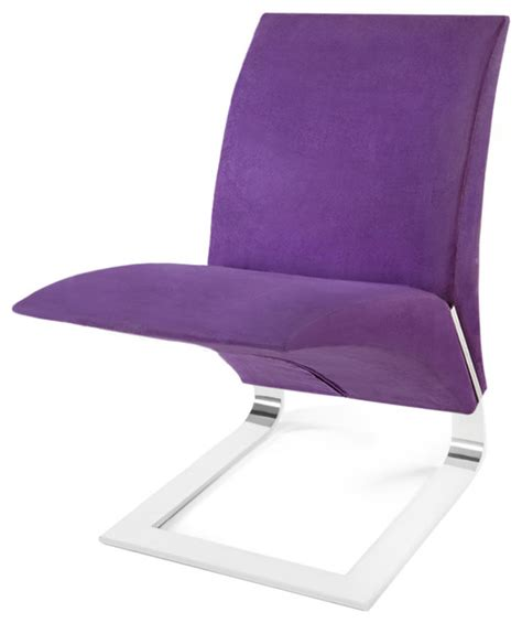 purple microfiber bouncy dining chair contemporary