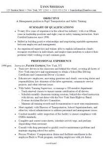 certified safety professional resume chronological resume sle manager pupil transportation