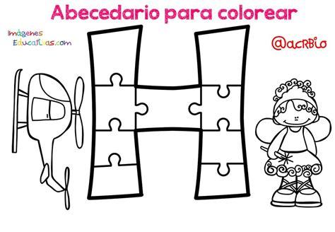 Abecedario para colorear (8) Imagenes Educativas