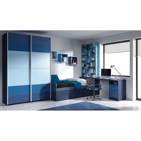 bureau grand chambre alia grand bleu lit bureau et armoire achat