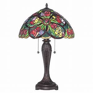 quoizel tf1868t lucia tiffany glass table lamp With lucia tiffany floor lamp