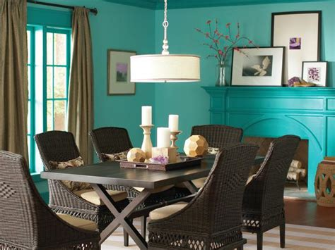 turquoise walls  ceilings  wicker chairs interiors