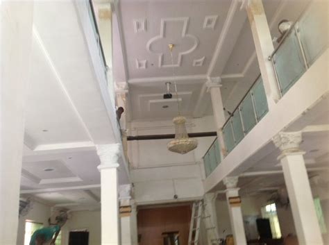 Ceiling Materials In Nigeria by Refurbishment And Modernisation Of Church Building Pop
