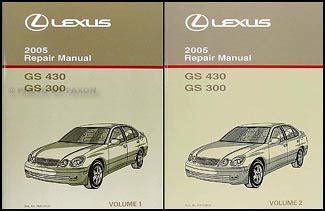 free service manuals online 2005 lexus gs user handbook 2005 lexus gs 300 430 shop manual original 2 volumes gs300 gs430 repair service ebay
