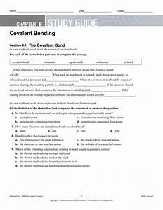 Study Guide Covalent Bonding Teacher Editable