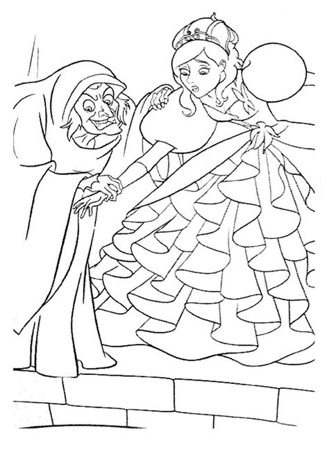 enchanted coloring pages    print