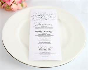 wedding menus charming script tea length wedding menus wedding menus by shine