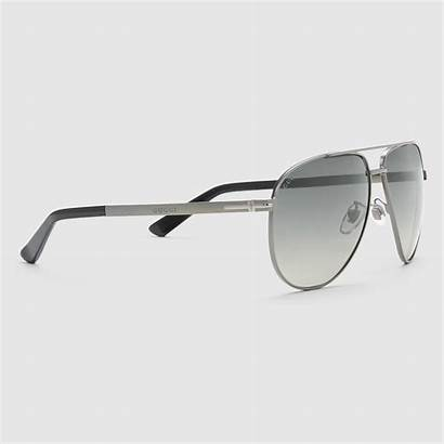 Sunglasses Aviator Metal Gucci Bar Dark Matte
