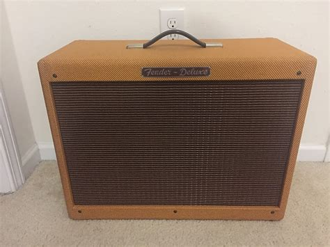 fender rod deluxe tweed 1x12 cabinet reverb