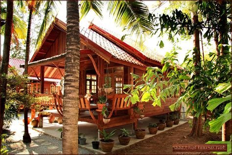 details thai wooden house planning construction house