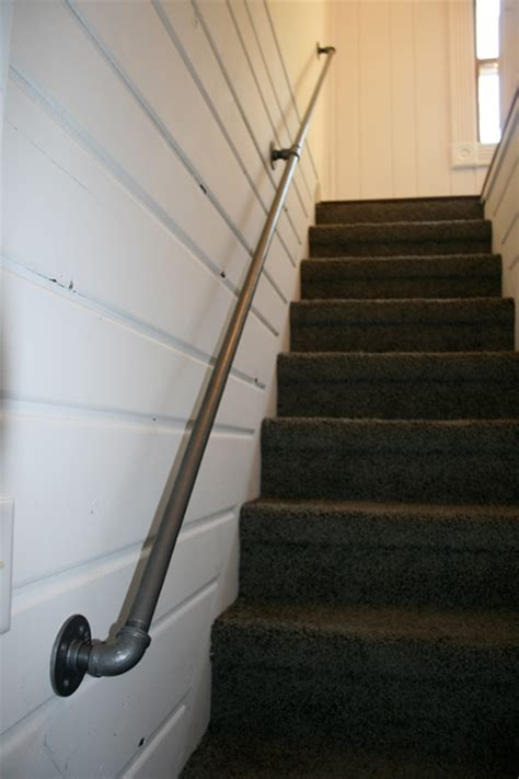 plumbing pipe handrail interesting handrail options for staircases that stand out 1556
