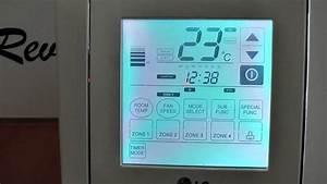 Lg Air Conditioning Wall Controller - Set Temp Demo
