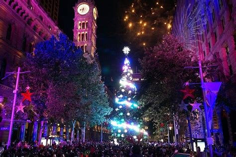 christmas in sydney lights trees 2016 2017