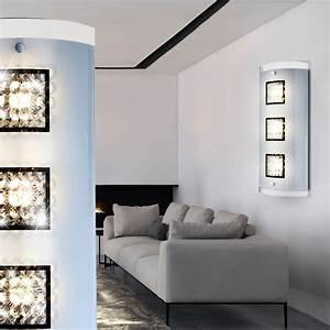Lampen Flur Diele : wandleuchte aus glas mit klaren dekorkristallen sterni lampen m bel r ume diele flur ~ Sanjose-hotels-ca.com Haus und Dekorationen