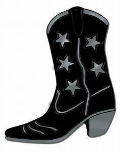 """Black Foil Cowboy Boot Silhouette 16"""" - Party Packs"""