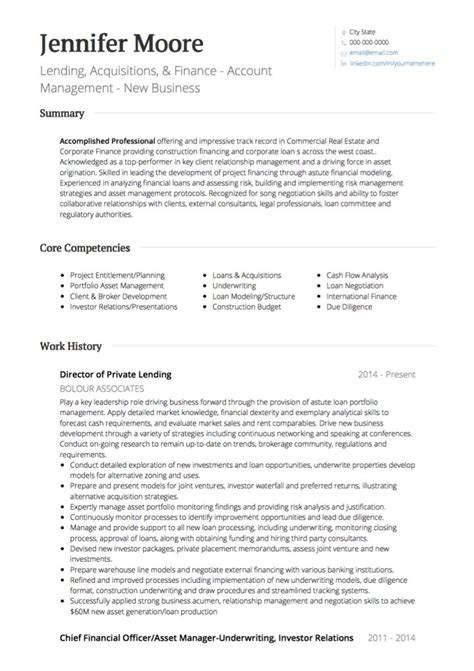 real estate cv exles templates visualcv
