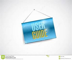 User Guide Hanging Banner Illustration Design Stock