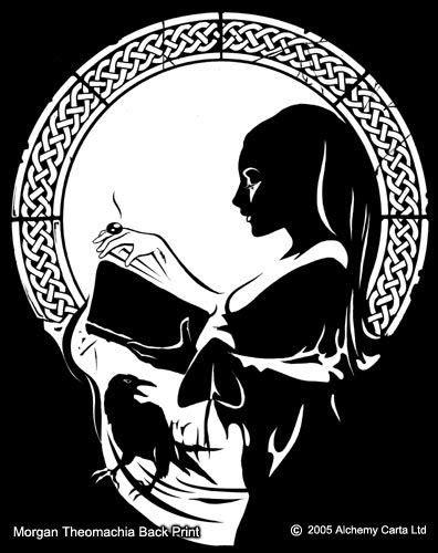 Morgan Theormachia Back Print | Skull art, Alchemy art, Art