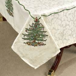 spode christmas tree table linens