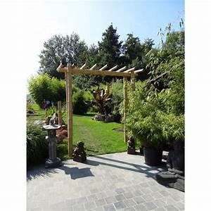 Pergola En Bambou : pergola simple en bambou bamboo concept ~ Premium-room.com Idées de Décoration