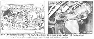 Where Is Evap Purge Valve Located On 1997 Audi A4 Quattro