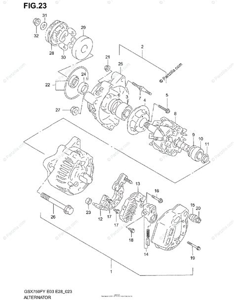 suzuki motorcycle 2001 oem parts diagram for alternator partzilla