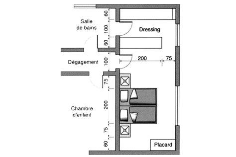 plan de dressing chambre plan chambre où mettre le lit dans la chambre côté