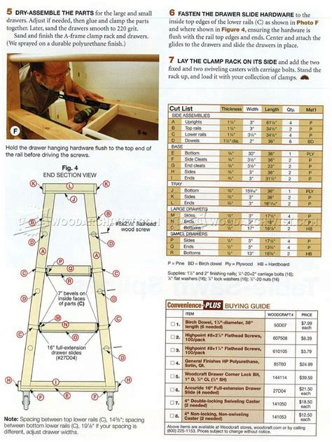 While i like my cart for getting the. #2856 Mobile Clamp Rack Plans - Workshop Solutions ...