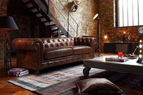 repulsif interieur canape canapé chesterfield en cuir kensington en