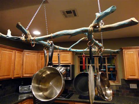 pot hanging pots pan hanger pans rack kitchen hang ceiling hangers diy hooks wall kitchens uses unique cabinet they lights
