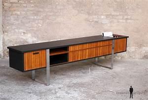 Meuble Scandinave Vintage : enfilade vinyle meuble tv vintage scandinave en teck gentlemen designers ~ Teatrodelosmanantiales.com Idées de Décoration