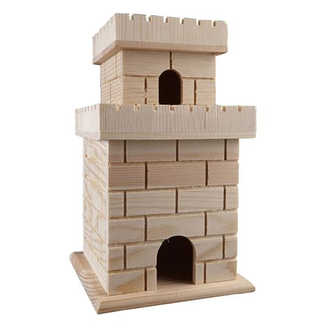 artminds wooden birdhouse castle