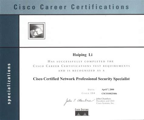resume of haiping li dual ccie 4435 r s sna ip dual