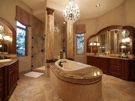 Luxury Mansions Master Bathrooms, Romantic Luxury Master