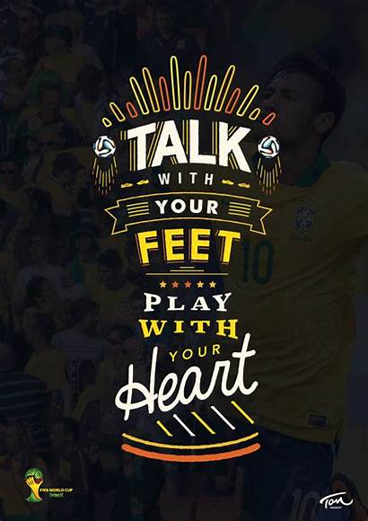 Brazil Poster Cup Trophy Typography Behance Fifa