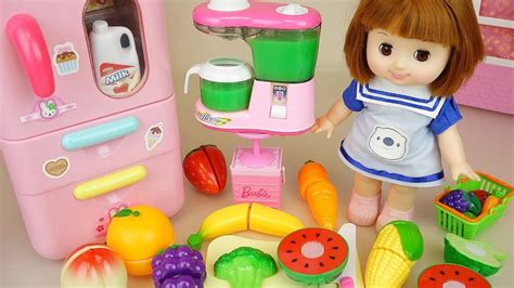 baby doll fruit juice  refrigerator toys kitchen play
