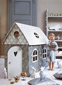 Cabane En Carton À Colorier : une cabane d enfant en carton cl ment cabane en carton maison en carton et enfant ~ Melissatoandfro.com Idées de Décoration