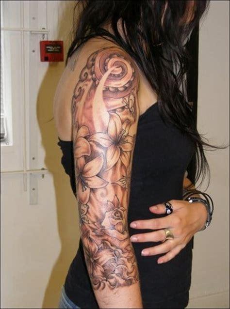 Floral Half Sleeve Tattoos For Women  Half Sleeve Tattoos