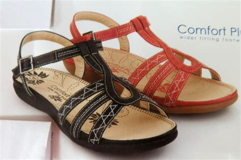 comfort plus sandals womens black or strappy comfort plus wide fit